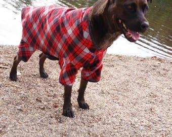 large dog pajamas christmas pajamas large dog clothes plaid pajamas custom sizes