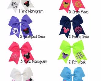 Minnie Mouse Hair Bow-Minnie Mouse Hair Clip-Minnie Mouse Ears-Personalized Minnie Mouse Bow-Monogram Hair Bow-Monogram Minnie Bow-Cheer Bow