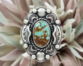 LaoOne * Sterling Silver Ring * Statement Turquoise Ring