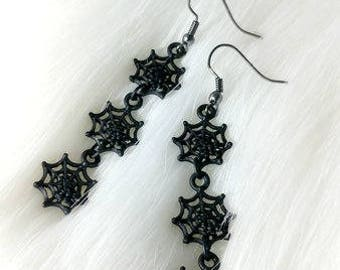 Wicked web earrings