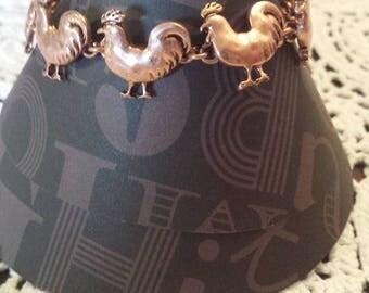 copper color rooster bracelet