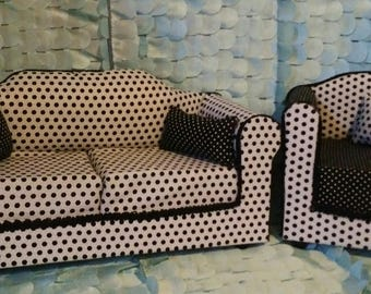 """18"""" Doll Couch and Chair (Furniture)"""