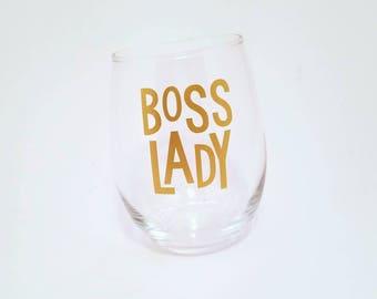 Lady Boss, Lady Boss Gift, Mom Boss, Girl Boss, Wine, Boss Babe, Boss Lady Gift, Boss Lady Wine Glass, Boss Lady, Boss Lady Glass, Boss Gift