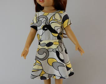 "18 inch doll clothes american, Girl doll clothes, 18""doll dress american, Girls doll dress, 18""doll dress handmade, American doll outfit"