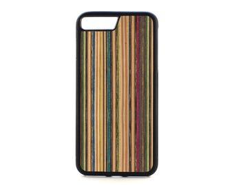 iPhone 7 PLUS Case - i7 plus case -Recycled Skateboard - Wooden iPhone 7 plus - Wood i7 PLUS - Real Wood iPhone 7 - Protective i7 plus case