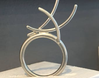 Mangrove Collection High Fin ring in sterling silver
