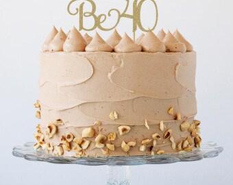 40th birthday cake topper, 40th birthday decorations, 40th cake topper40th birthday party, 40th birthday decorations, cake topper