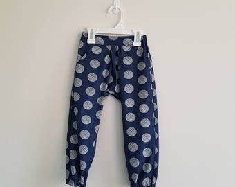 READY TO SHIP - Chillax Pants - Pants - Girls and Boys Pants - Childrens Pants - Toddler Pants - Size 3