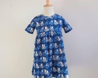 READY TO SHIP - Horizon Girls Dress - Knit Dress - Girl Toddler Dress - Girls Clothing - Short Sleeve Dress