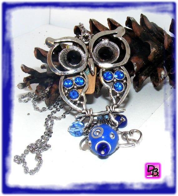 Sautoir chaîne [Blue Marine Owl]