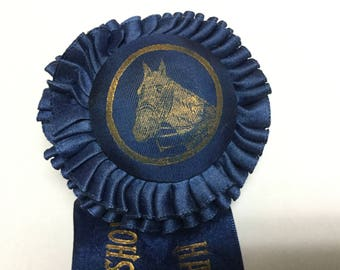 """Lovely Antique Vintage Horse Show Equestrian Ribbon Silk 1930's Haddam Neck Very Nice! 9.5"""""""