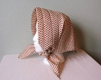 Lovely Polka Dot Head Kerchief/Headscarf with Ties