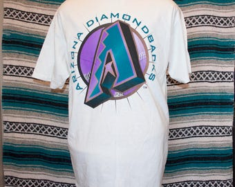 90s Arizona Diamondbacks Shirt Single Stitch White XL X-Large 100% Cotton