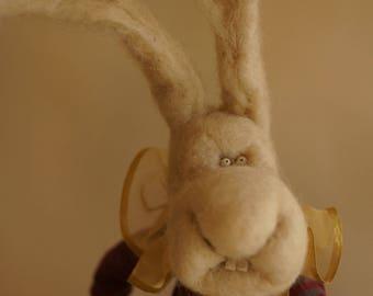 Bunny Rabbit, Needle felted animal, easter bunny, easter gift, handmade doll, art doll, stuffed animal