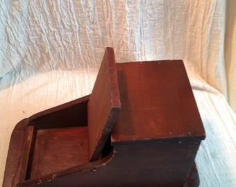 Antique mail holder entryway Americana decor oak furniture maple furniture Classic decor