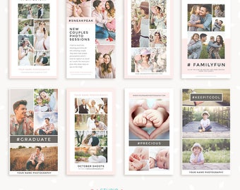 "Instagram story template: ""Classy Collages"", Instagram stories templates, Social Media Template, Instagram Template for photographers"
