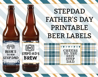 STEPDAD - Father's Day Beer Labels Printable