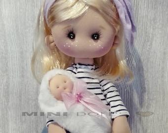 Handmade doll. Handmade Doll. Cloth Doll. Fabric Doll. Soft. 42 cm. Rag Doll. Decoration