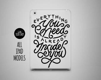 Motivation iPad Case iPad Mini Case iPad Air Case iPad Air 2 Case iPad 4 Case 3 iPad 4 Mini Case Inspirational Qoute Tablet Case iPad Cover