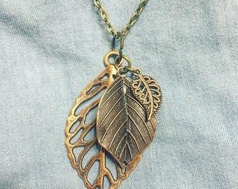 Three Leaf Charm Necklace