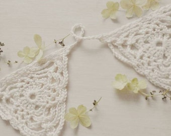 Wedding Bunting. Garland. Wedding decor. Crochet garland. Vintage wedding decor. Venue Prop