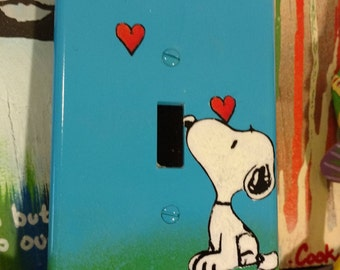 Snoopy Love Light Switch Cover