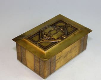 Arts & Crafts Metal and Wood Jewelry or Dresser Box