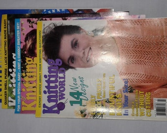 KNITTING WORLD MAGAZINE March 1991 May November January 1992 Lot of 4
