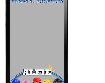 Power Rangers Snapchat filter ~ Power Rangers Snapchat Geofilter ~ Power Rangers Geo Filter ~ Birthday Geofilter ~ Power Rangers Party ~