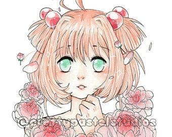 Sakura & Flowers Print