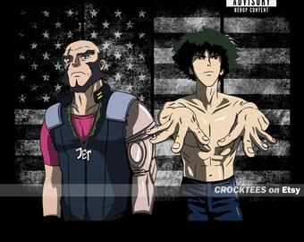 Spikonia - Cowboy Bebop Parody Album Cover Men's Unisex T-Shirt - Spike Spiegel Anime Pop Parody Clothing