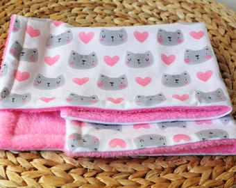 Cat blanket, Valentines cat blanket throw, Sherpa blanket for cats, Comfy cat bedding, Soft blanket, Kitty blanket, Kawaii cats, Cozy bed