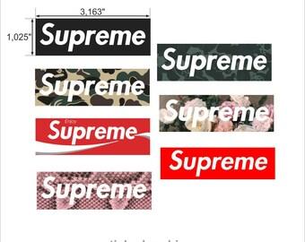 "Laptop mobile phones stickers set ""Supreme"""