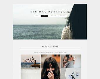 MINIMAL MASONRY PORTFOLIO | Responsive Premade Html Website Template | Grey, White, Black Responsive Gallery