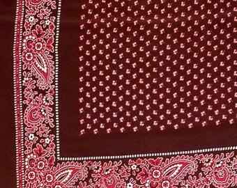 Large Cotton Paisley Border Bandana Tribal Design Scarf