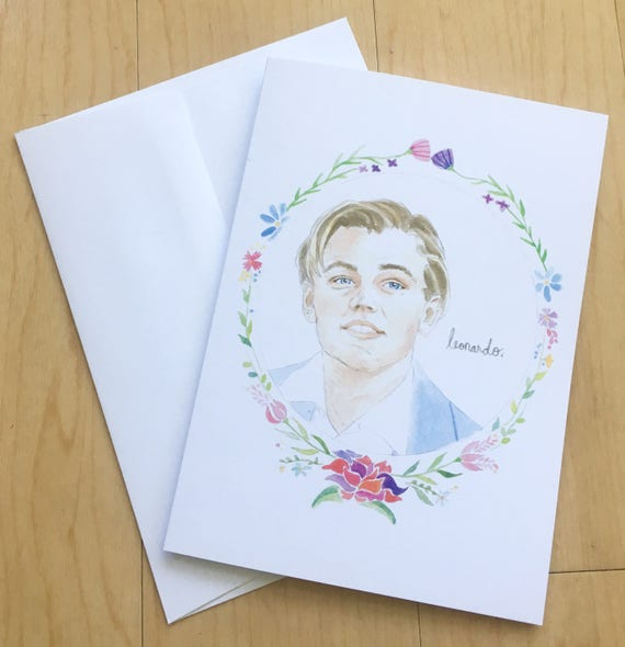Leonardo DiCaprio Illustration Greeting Card 5x7