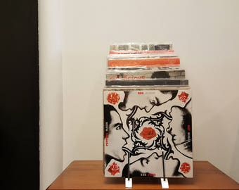 Vintage Chrome Metal Industrial Tiered Vinyl Record Holder/Record Display/Rack