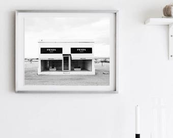 PRADA Marfa PRINTABLE |  Fashion Photography | Black and white Digital Download |  Fashion Print |  Art- Prada Wall Art |  American art