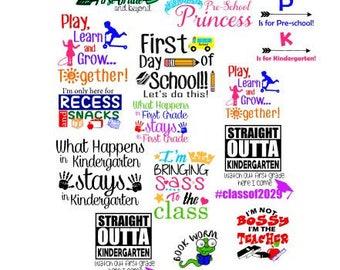 Back to school SVG bundle / svg bundles / school 2017 bundle / school svg / back to school svg / school class svg / dxf / pdf / eps / png