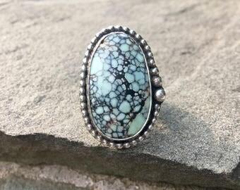 Variscite Sterling Beaded Ring