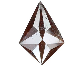 0.99 Ct Natural Loose Diamond Rose Cut Kite Shape Red Brown Color 8.60X6.00X3.00 MM N3114