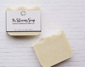 Fir Shaving Soap - Handmade Soap, Cold Process Soap, Shaving Soap, Scented Soap, All Natural Soap, Vegan Soap