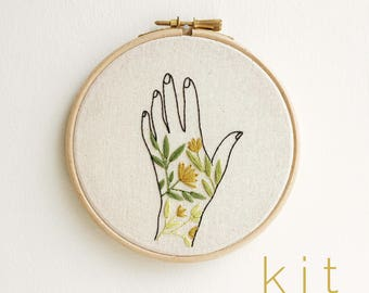 Grow Wild Embroidery Kit - DIY Embroidery Kit with Pattern