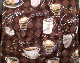 CAPPUCCINO, EXPRESSO, COFFEE  Microwave Bowl Cozy