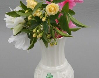 Belleek Shamrock Nadine Spill Vase