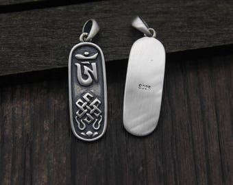 1PC Sterling Silver OM Charm,OM Pendant,Yoga Pendant,Yoga Charm,Yoga Jewelry