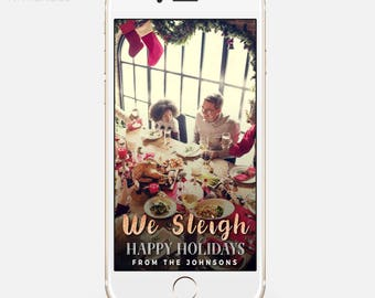 LIMITED TIME! Filter, Christmas Party Snapchat Geofilter, We Sleigh, Christmas Filter, Holiday Filter, I Sleigh hol001