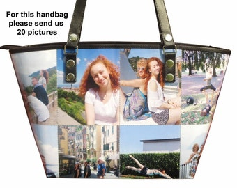Personalized tote bag with pictures from you - FREE SHIPPING - gift gifts for mom girlfriend grandmother custom customized handbag purse bag