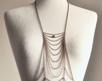 Copper Tone Body Chain