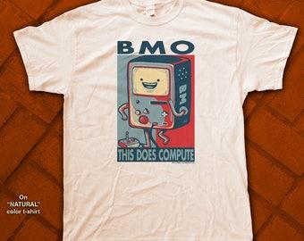 "BMO ""HOPE"" style T-Shirts - pre shrunk 100% Cotton short sleeve t-shirt - Adventure Time!"